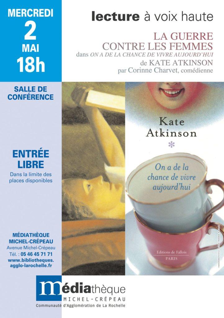 """Lecture à Voix Haute - """"La Guerre contre les Femmes"""" et """"Genèse"""" de Kate Atkinson"""